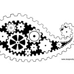 Gear Print Paisley