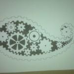Hand Drawn Gear Print Paisley