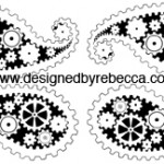 Gear Print Paisley Pattern for Spoonflower
